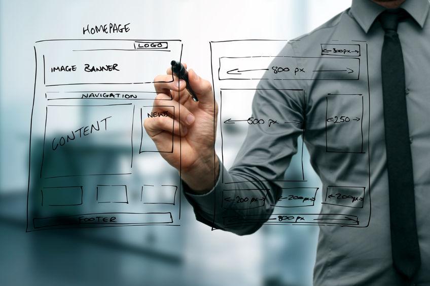 23069320 - designer drawing website development wireframe